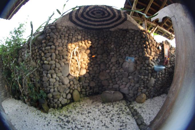 Dusche Medewisurfhomestay Unterkunft auf Bali