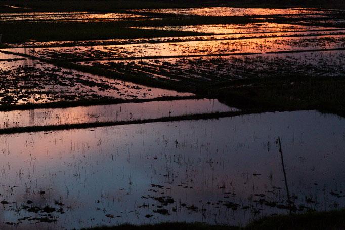 Sonnenuntergang Bali Bungalow