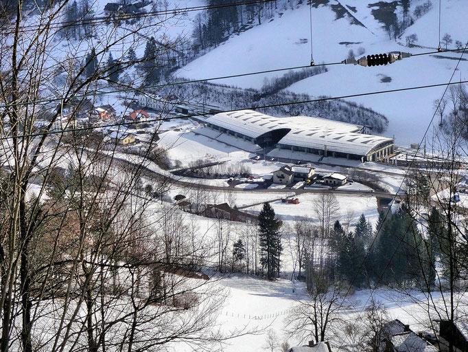 Blick auf den Bahnhof Laubenbachmühle