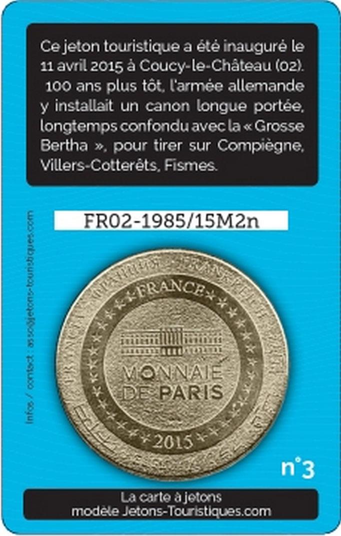 Jeton Canon de Coucy / Verso
