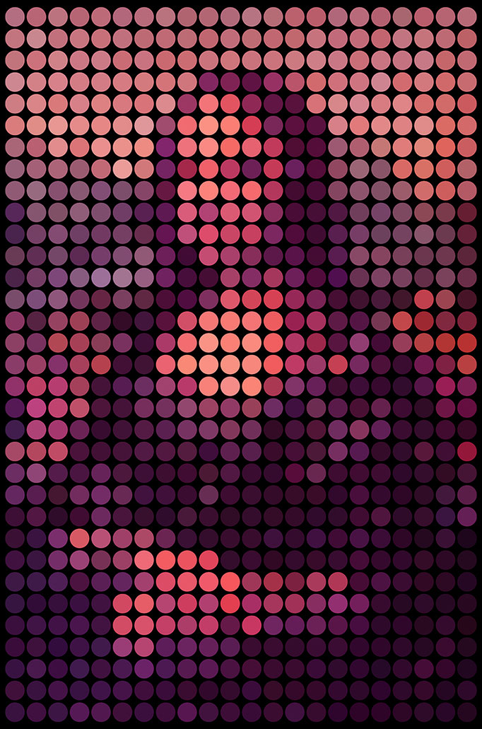 Mona Lisa Dots Dawn Edition by Thorsten Schmitt