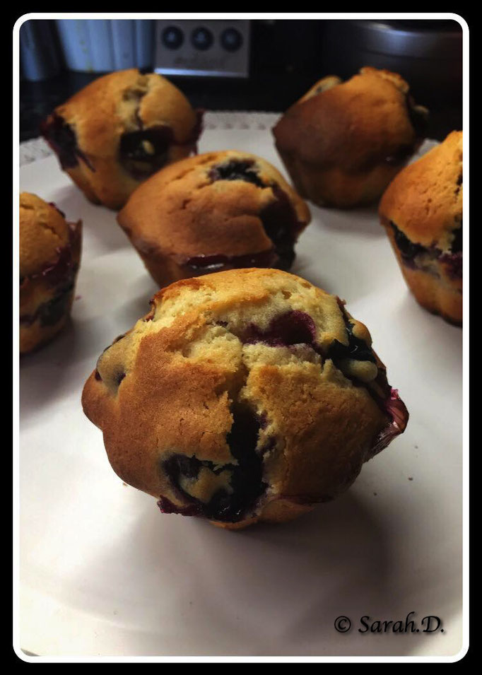 Muffins chocolat blanc myrtilles