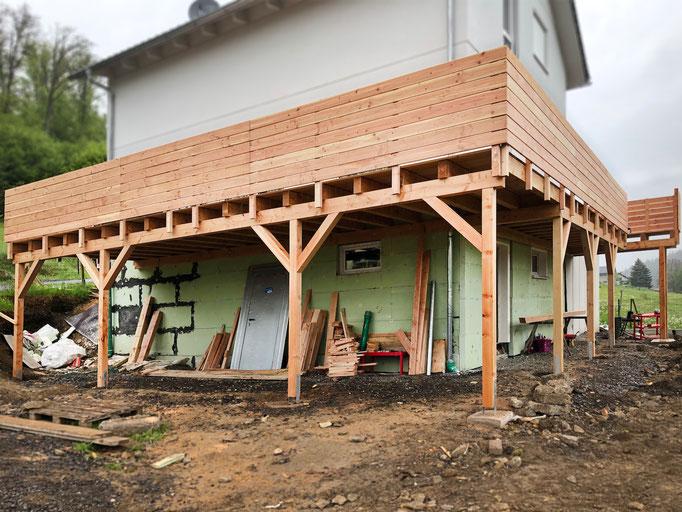 Terrasse mit Douglasie Holz