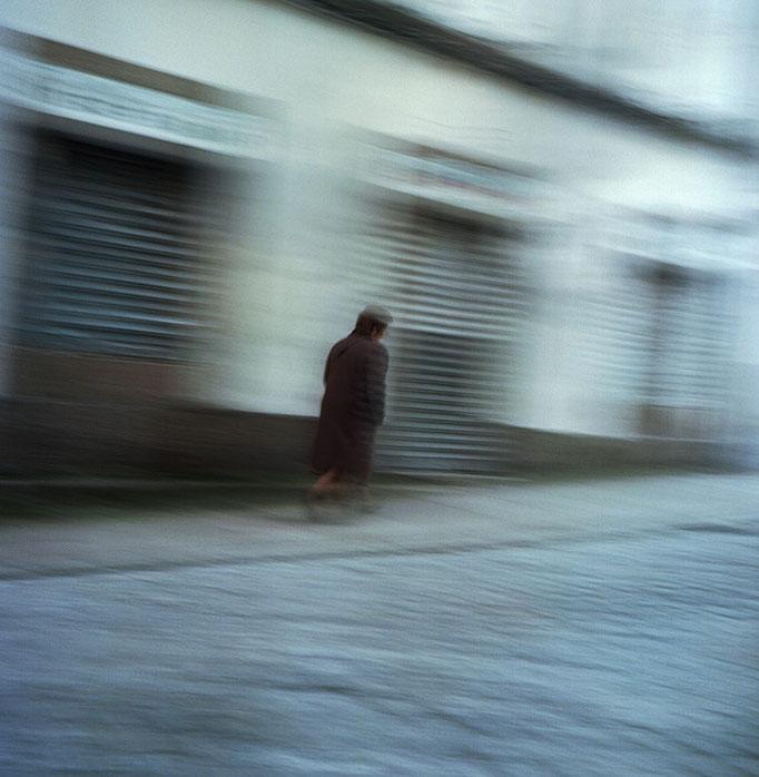 Mujer en movimiento. Santiago de Compostela