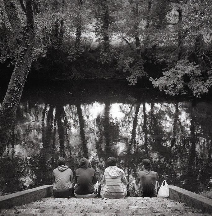 Compañeros en el Rio Tambre