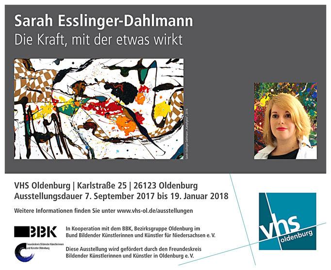Sarah Esslinger-Dahlmann, große Ausstellung in der VHS (Oldenburg)
