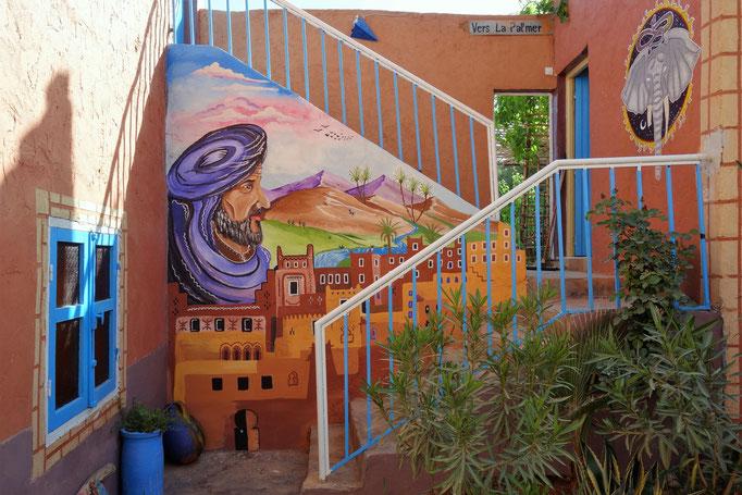 Die Treppe zum Garten