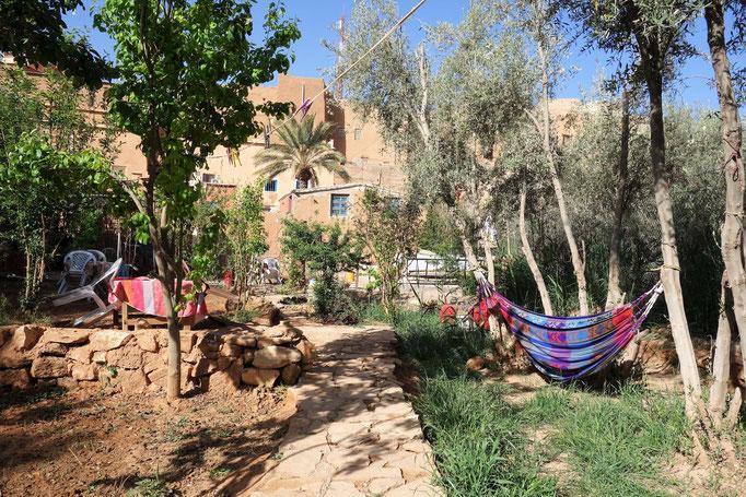 Der Garten der Unterkunft