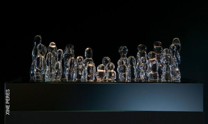 Rencontre 2 (Fraternité)- verre, miroir