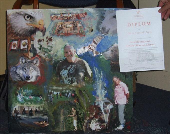 Master-Diplom-Geschenk von meinen Mitschüler