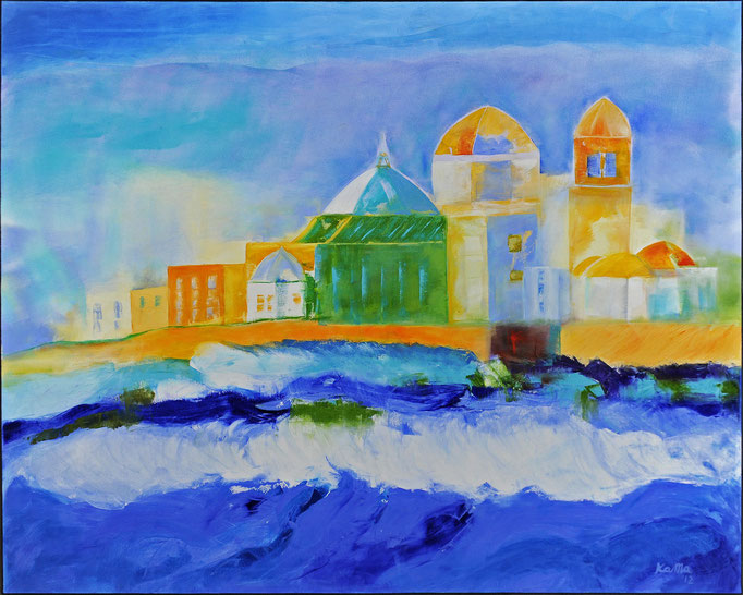Impressionen Cadiz, Öl, Leinen, 80 x 100 cm