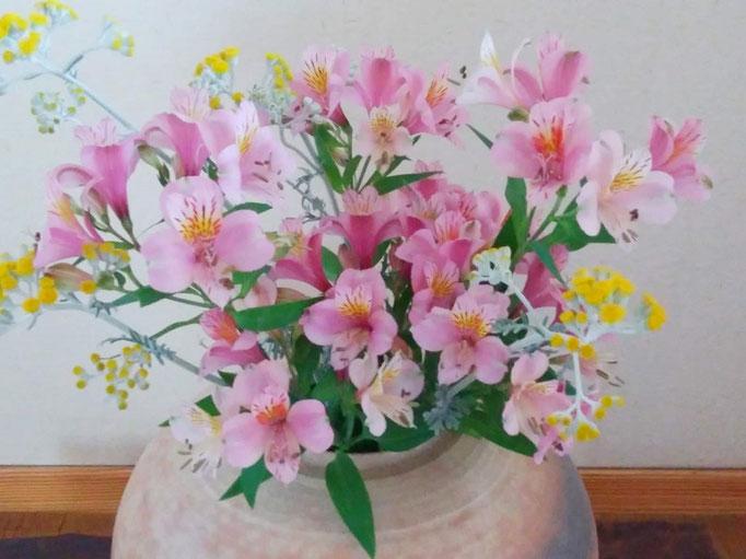 ご近所さんから頂いたお花