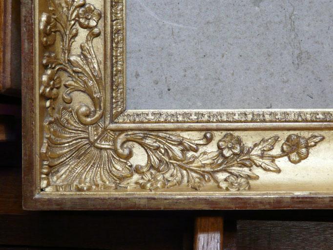Coin du cadre doré époque restauration