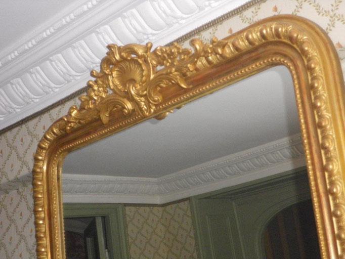 Restauration compléte du fronton miroir XIXème