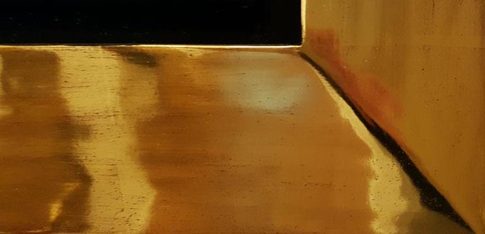 Detailaufnahmen Übereckvergoldung und Echtgold