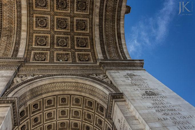 Paris, Arc de Triomphe, perspektivisch