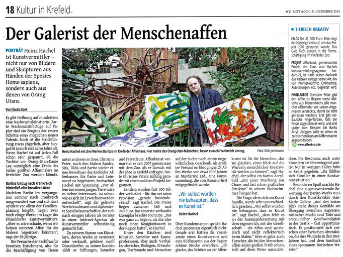 Westdeutsche Zeitung, 31.12.2014
