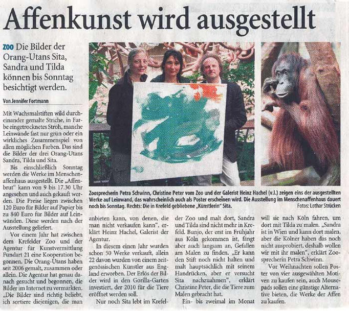 Westdeutsche Zeitung, 11.10.2008