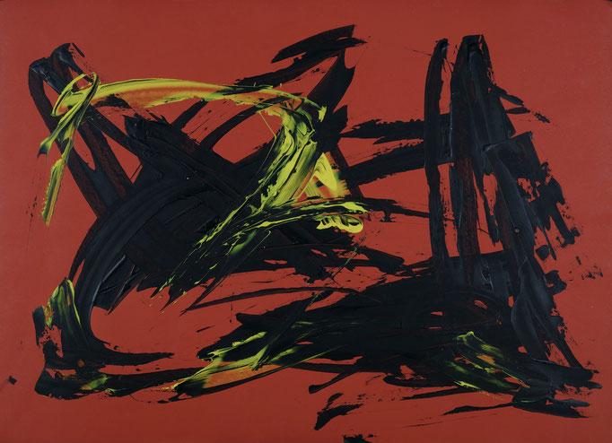 Barito | Fingerfarben auf Leinwand | 50 x 70 cm