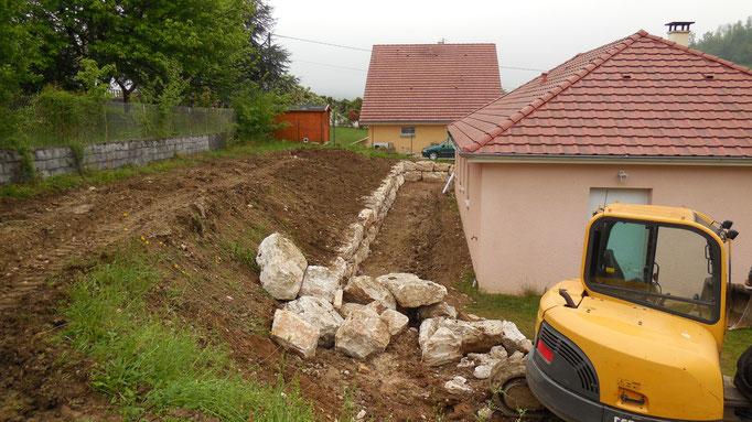Aménagement pour soutien de talus et terrasse
