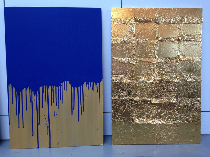 Yves Klein inspired samples by Eve Ashcraft for a project in Florida.