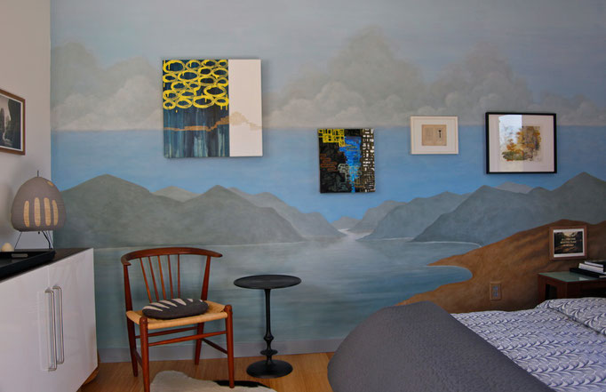 Wall Mural and Paintings by Eve Ashcraft, Photograph © Eve Ashcraft