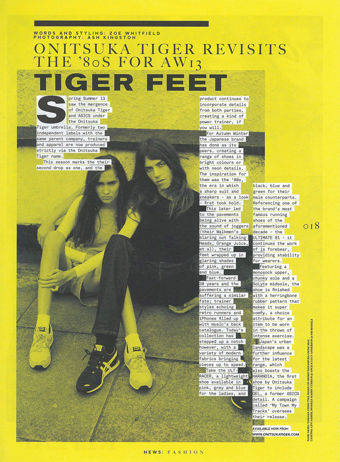 CLASH magazine ONITSUKA TIGER
