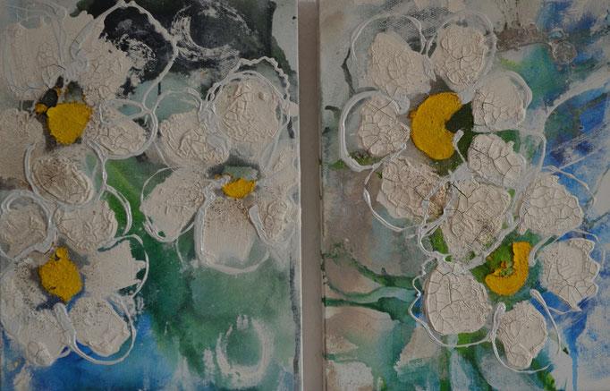 Blüten, je 30/40, 2014, verkauft