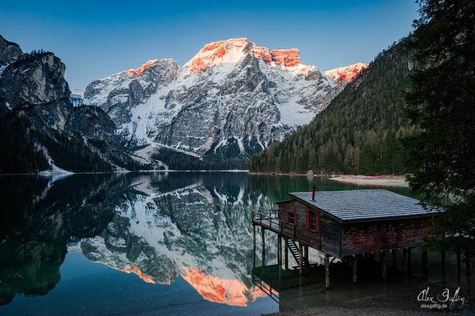 First Light - Lago di Braies, Dolomites, Italy