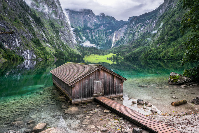 """Lake, House, Mointain"" - Berchtesgadener Land - Germany"