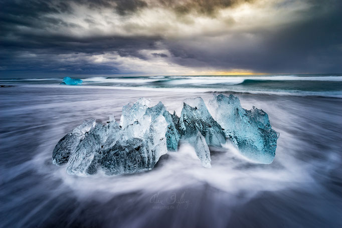"""Smoky Ice"" Jökulsárlón, Iceland"