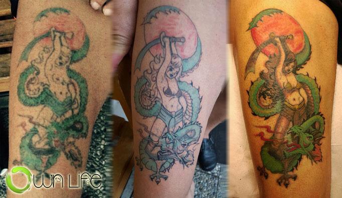 Aus alt mach neue - 35 Jahre altes Tattoo restauriert