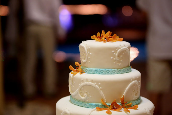 Puerto Rico wedding cake