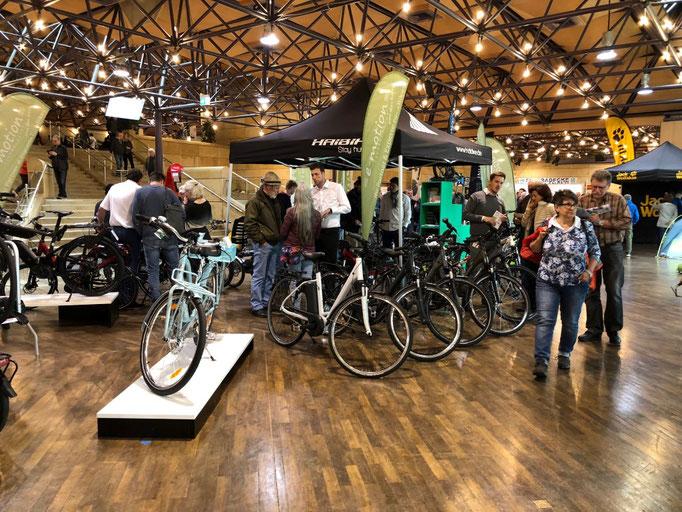 Mit den neuesten e-Bike Modellen auf der Messe Rad 18 in Fürth