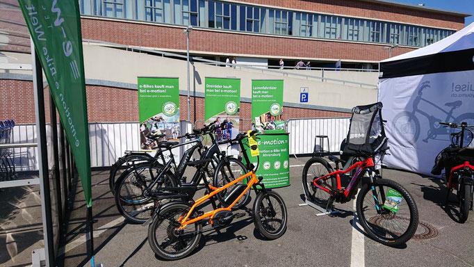 Die e-motion e-Bike Welt Ahrensburg auf der VELOHamburg