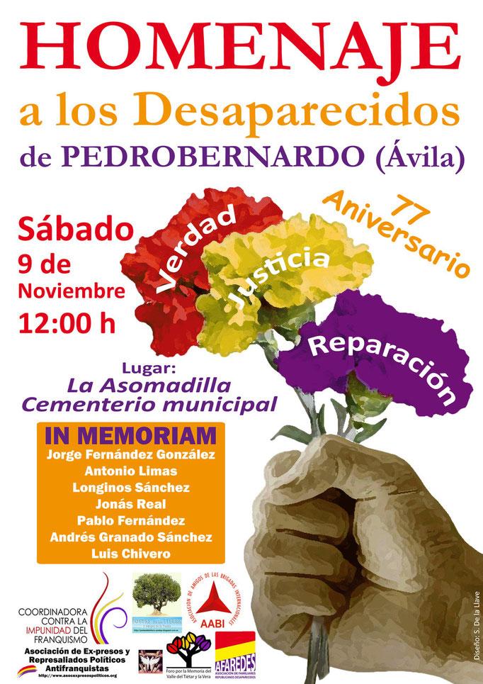 Cartel Homenaje desaparecidos Pedrobernardo