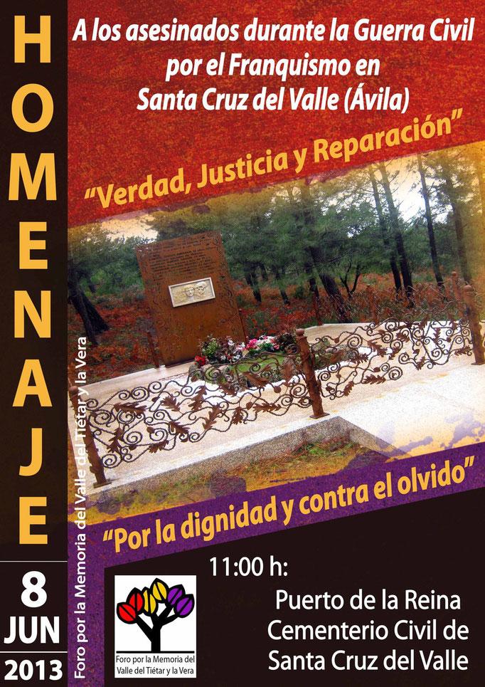 Cartel homenaje desaparecidos Sta. Cruz