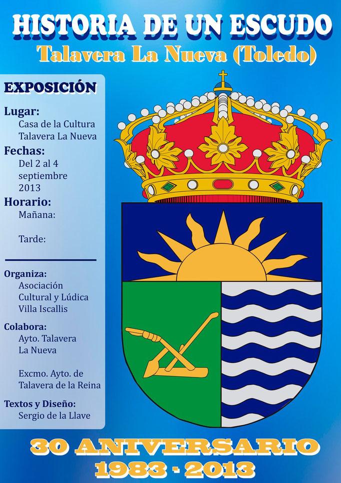 Cartel Exposicón heráldica Talavera La Nueva