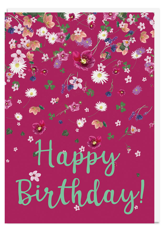 Happy Birthday bordeaux, Klappkarte