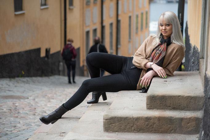 Norwegian model: Monique Tangen