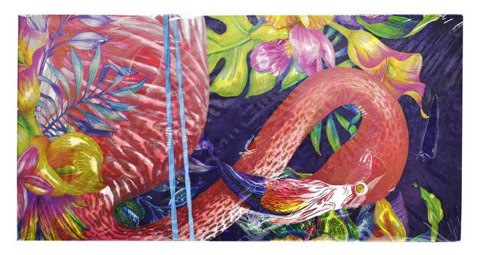 ФХЛ-00012 Конверты с Фламинго, голография, 10 шт. #61606