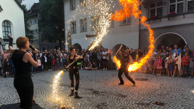 Feuershow beim Gauklerfest in Feldkirch