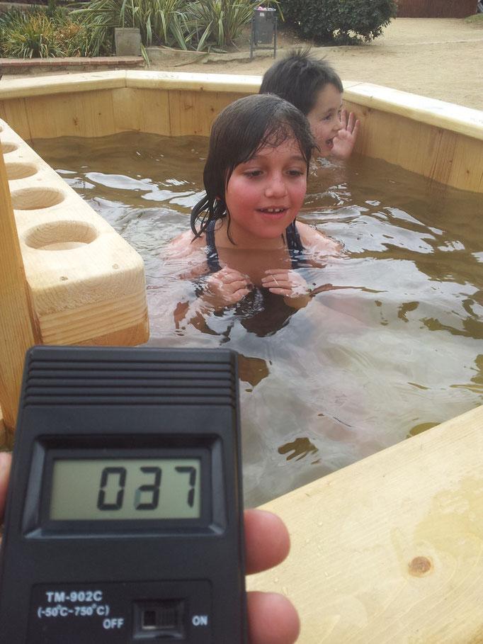 37ºC temperatura ideal.