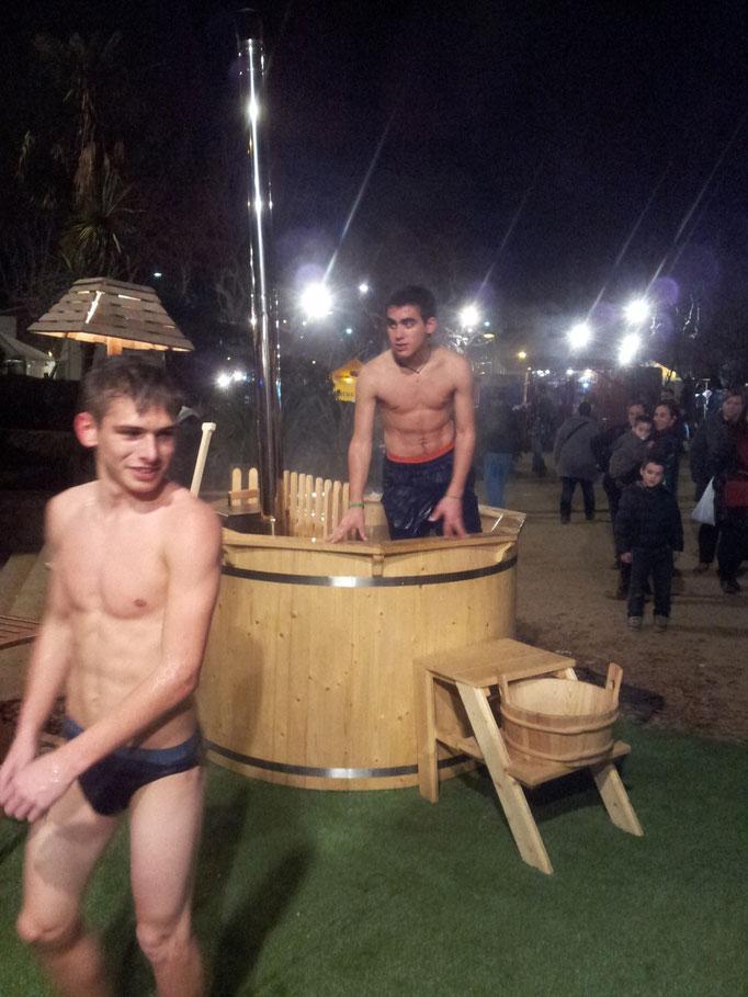 A la sauna!