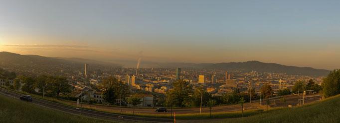 Zürich mit Sicht auf die Stadt
