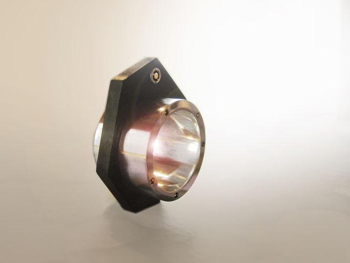 Ring in Silber 925 und Carbon und schwarzen Brillanten