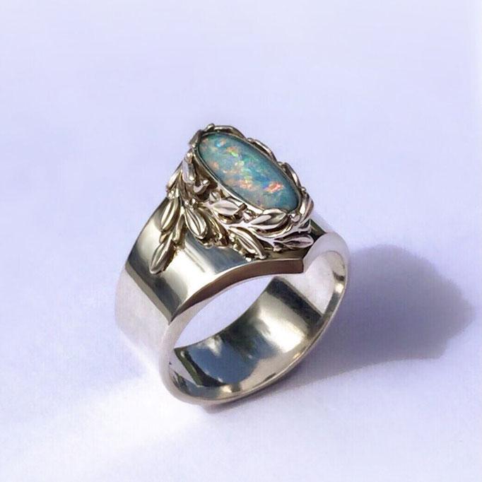 Damenring Silber 925 mit Opal