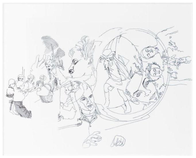Arcyldruck, 50.8 cm x 40.6 cm, Titel: Fragmente, 2015, Damaris Rohner