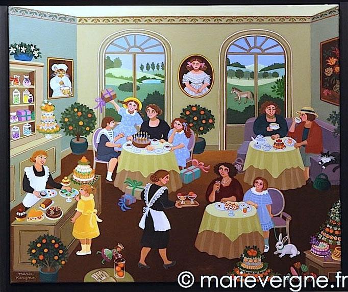 L'Orangerie - Acrylique - Format 55 x 46 - Vendu