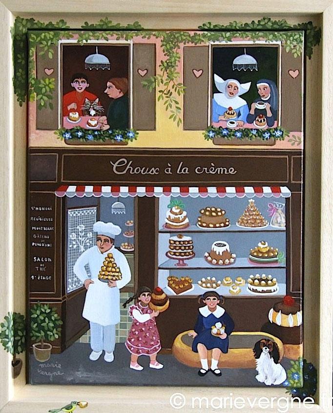 Choux à la crème - Acrylique - Format 35 x 27 - Vendu